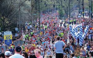 boston marathon, hot marathon, racing in heat, moms running